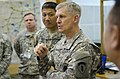 U.S. Army Lt. Gen. Donald Campbell, center, the commanding general of U.S. Army Europe, talks with Soldiers assigned to the 70th Infantry Division, Hawaii Army National Guard, about their role in Immediate 130827-A-WB953-312.jpg