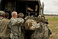 U.S. Soldiers unload a simulated patient from the back of an M997 Humvee ambulance during Joint Readiness Training Center (JRTC) 14-05 training at Fort Polk, La., March 15, 2014 140315-F-RW714-062.jpg