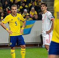 UEFA EURO qualifiers Sweden vs Spain 20191015 Pierre Bengtsson 6.jpg