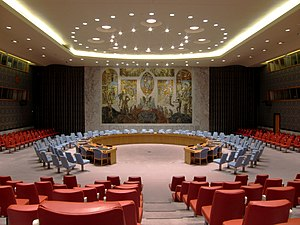 Yves Fortier (lawyer) - United Nations Security Council Chamber