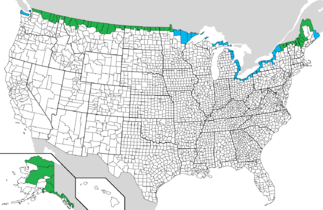 TIL That Roughly 23 Of The US Population Lives Within 100 Miles - Map 100 Miles Us Border