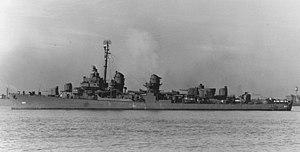 USS Bryant (DD-665) off Charleston, South Carolina (USA), on 7 January 1944 (19-N-57124)