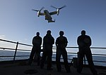 USS Carl Vinson conducts MV-22B Osprey flight operations. (27388043400).jpg