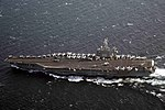 USS Dwight D. Eisenhower conducts a routine, scheduled transit. (30967159960).jpg