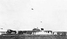USS Hornet (CV-8) under attack during Battle of Santa Cruz 1942.jpg