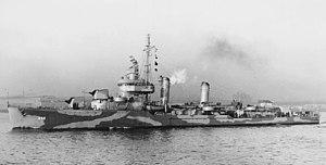 USS Kearny (DD-432) - USS Kearny (DD-432) underway in 1942.