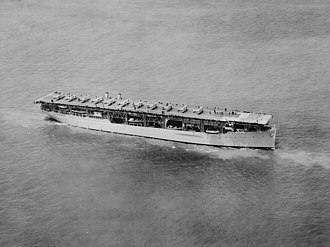 USS Langley (CV-1) - Image: USS Langley (CV 1) underway in June 1927 (520809)