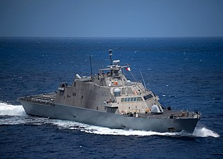 USS <i>Little Rock</i> (LCS-9) Freedom-class littoral combat ship of the US Navy