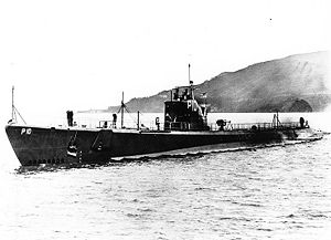 USS Pompano (SS-181) in San Francisco Bay, California, 1938.