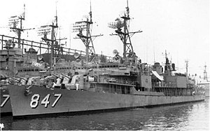 USS Robert L. Wilson (DD-847) docked at New York in 1965
