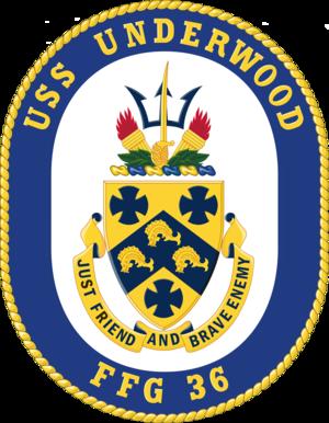 USS Underwood (FFG-36) - Image: USS Underwood FFG 36 Crest