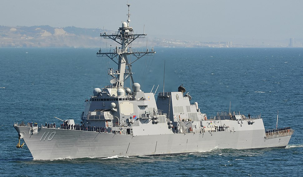 USS William P. Lawrence (DDG 110) steams toward San Diego Harbor in May 2015