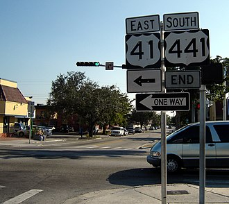 U.S. Route 441 in Florida - The southern terminus of US 441 in Miami