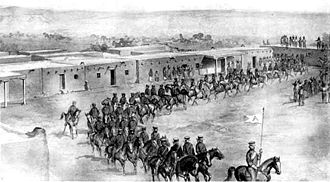 Las Vegas affair - United States Cavalry in Las Vegas, 1847.