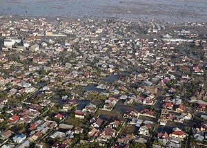 Banda Aceh - Banda Aceh aerial view after tsunami disaster, 2004