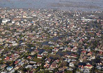 Banda Aceh - Banda Aceh aerial view after tsunami disaster, 2004