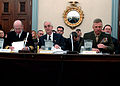 US Navy 050310-N-2568S-001 Chief of Naval Operations Adm. Vern Clark, Secretary of the Navy Gordon England, and Commandant of the Marine Corps Gen. Michael Hagee testify to members of the House Appropriations Committee (Defense.jpg