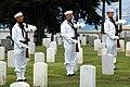 US Navy 050709-N-0050T-060 Navy Honor Guard members prepare to fire a 21-gun salute during a funeral service in honor of Senior Chief (SEAL), Daniel R. Healy at St. Charles Borromeo Catholic Church.jpg