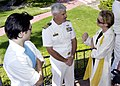 """US Navy 050911-N-7575W-001 Blair Redford and Judith Chapman from the daytime television drama """"The Young and the Restless"""" speak with Naval Base Ventura County's Commanding Officer Capt. Paul Grossgold.jpg"""