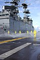 US Navy 060113-N-2636M-070 The Repair Division the amphibious assault ship USS Bataan (LHD 5) conducts Aqueous Film Forming Foam (AFFF) testing.jpg