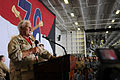 US Navy 090713-N-3659B-080 Former NFL head coach Don Shula addresses the crew of the aircraft carrier USS Ronald Reagan (CVN 76) during a USO Summer Troop Visit.jpg