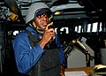 US Navy 110719-N-CO162-014 Machinist's Mate 2nd Class Mario Sylvestre, assigned to the submarine tender USS Frank Cable (AS 40), operates the sound.jpg