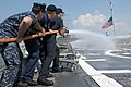 US Navy 110726-N-GZ228-104 Sailors aboard USS Nitze (DDG 94) participate in a tug of war training exercise with Navy ROTC midshipmen.jpg