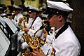 US Navy 110923-N-RH386-143 Musician 1st Class Dana Booher performs on baritone saxophone with the U.S. Navy Ceremonial Band.jpg