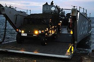 US Navy 120210-N-KR526-017 Members of the Japan Ground Self-Defense Force exit Landing Craft Utility (LCU) 1635.jpg