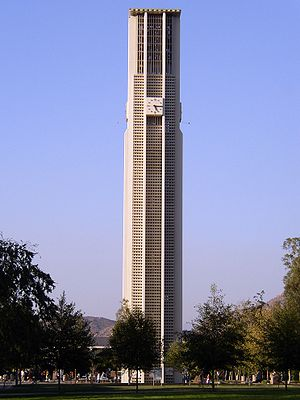 Riverside County, California - The 161-foot, 48-bell, carillon tower at the University of California, Riverside.