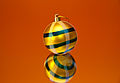 Ukrainian Striped yellow ball on a mirror.jpg