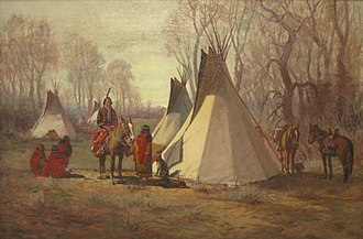 Uncompahgre Ute - Charles Craig, Uncompahgre Ute Indian Camp, 1893, Denver Art Museum