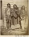 Unidentified Métis at Fort Dufferin, Manitoba - Métis non identifiés à Fort Dufferin (Manitoba) (23872820004).jpg