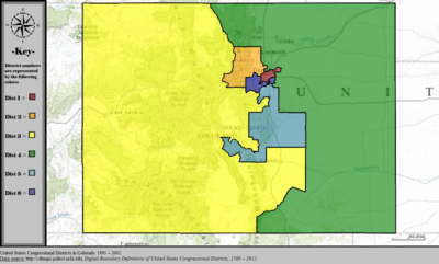 United States Congressional Districts in Colorado, 1993 – 2002.tif