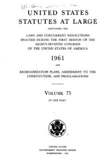United States Statutes at Large Volume 75.djvu