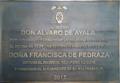 Universidad de Alcalá (RPS 20-03-2018) Placa dedicada a Álvaro de Ayala y Francisca de Pedraza.png
