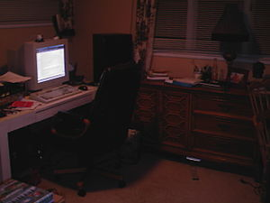 Untidy home office (mine)