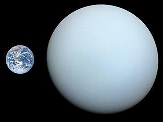 Uranus - Size comparison of Earth and Uranus