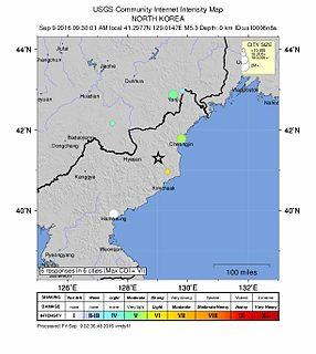 September 2016 North Korean nuclear test