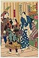 Utagawa Kunisada II - Dressing Room of the Top Star - Actors Bandô Hikosaburô V and Nakayama Genjûrô II.jpg
