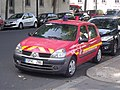 Véhicule de liaisons Renault Clio immatricule SPVL286 et appartenant aux pompiers de Paris.jpg