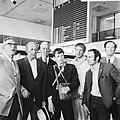 V.l.n.r. pater J. van Eupen, J. H. Davio, P. Nak, B. de Wolf, B. Hendriks en dr, Bestanddeelnr 922-5798.jpg