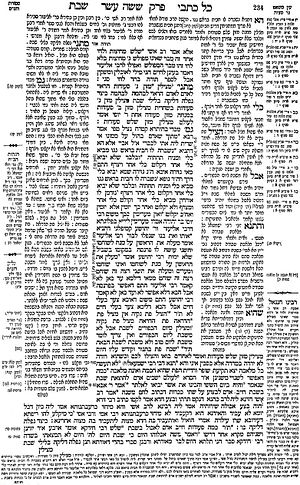 History of theology - A page of Talmud