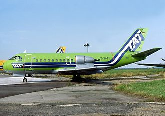 TAT European Airlines - VFW 614 acquired with the merger of Air Alsace in the former TAT aircraft livery
