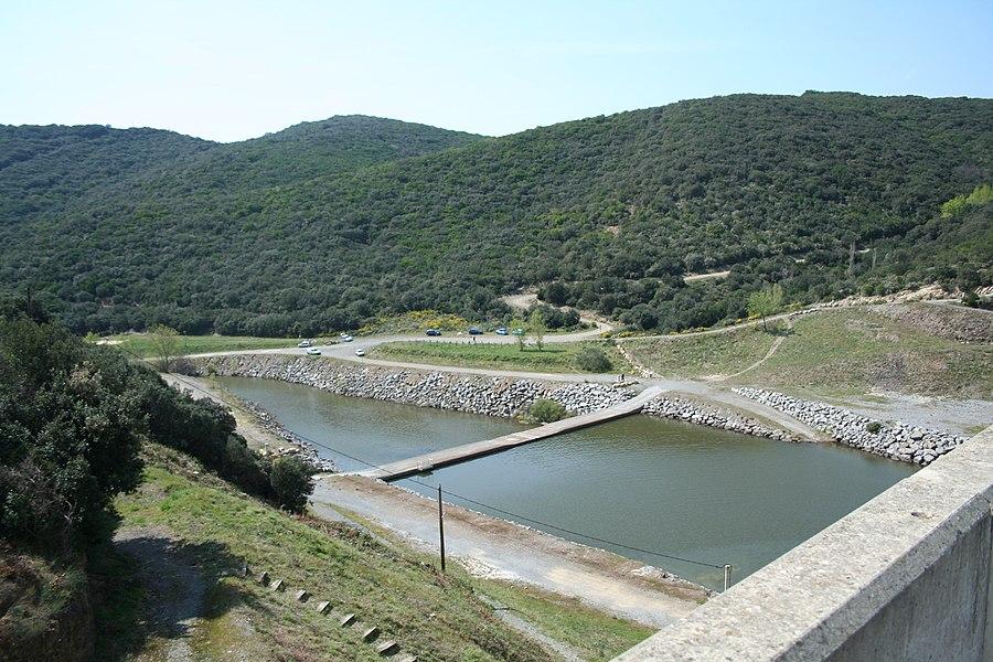 Rivière Peyne, après le barrage des Olivettes (Vailhan - Hérault)