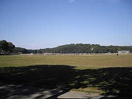 View of the Parade Ground from the starting line of the famed 2.5-mile cross-country course
