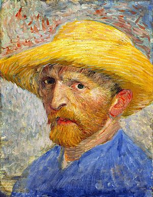 Self-Portrait with Straw Hat by Vincent van Go...