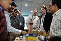 Van de Graaff Generator Experimentation - Indo-Finnish-Thai Exhibit Development Workshop - NCSM - Kolkata 2014-11-27 9772.JPG