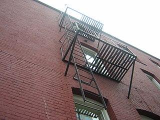 Apartment Building Fire Escape Ladder file:vancouver fire escape ladder - wikimedia commons