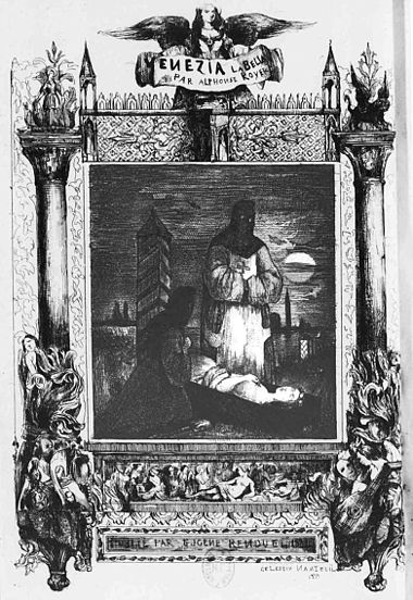 Frontispiece by Nanteuil for Royer's novel, Venezia la bella